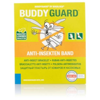 BUDDYGUARD® Anti-Insekten Band 4er Set grau